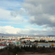 Aerial view of Reykjavik, capital of Iceland from the top of the Hallgrimskirkja church — Stock Photo #31453355