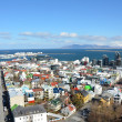 Aerial view of Reykjavik from the top of the Hallgrimskirkja church — Stock Photo