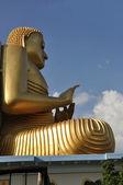 Big golden Buddha in Dambulla Srí Lanka — Stock Photo