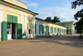 Spa franzensbad Repubblica Ceca con colonnato sale e prato molle — Foto Stock