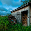 Old and hand made barn — Stock Photo