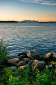 Landscape with rocky coastline — Stock Photo