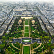 Stock Photo: Paris center aerial view