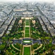 Paris center aerial view - Stock Photo