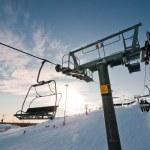 Ski-lift support on ski resort — Stock Photo #8974305