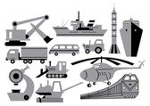 Transport, equipment, machinery — Stock Vector