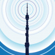 Stock Vector: TV Tower