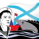 The Russian Navy — Stock Vector