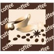 Stock Vector: Tasty coffee