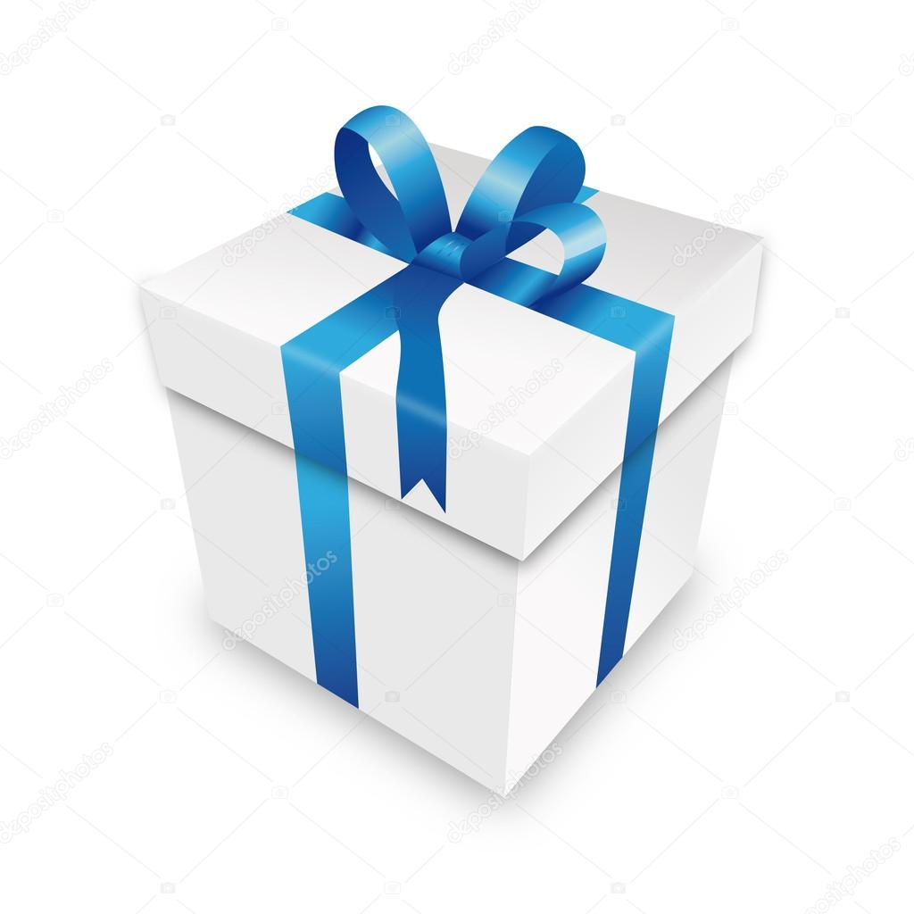 Gift package gift box packet blue parcel wrapping xmas ...