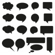 Talking bubble set speech bubble thought bubble icon bubble help answer mindmap internet advertising faqs comic — Stock Vector #13173017