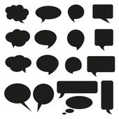Talking bubble set speech bubble thought bubble icon bubble help answer mindmap internet advertising faqs comic — Stock Vector