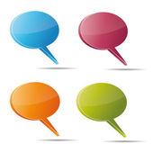 Talking bubble set speech bubble thought bubble icon bubble help answer mindmap internet advertising faqs comic — Stock Vector