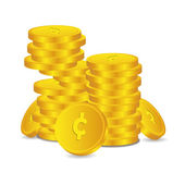 Bank credit coin capital credits gold money tal € vector rewarding sweetheart symbol credit — Stock Vector