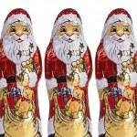 çikolata Noel Noel hediyesi sarılmış çikolata Noel Baba — Stok fotoğraf