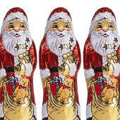 Chocolate christmas christmas gift wrapped chocolate Santa Claus — Stock Photo