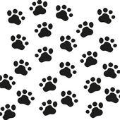 Animal Paw pet wolf paw paw vector bear footprint animal paw cat paw fingerprint impression — Stock Vector