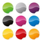 Badges badge set shop collection advertising placard sticker label web button action — Stock Vector