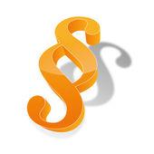 Paragraph paragraph sign symbol 3d terms justice law lawyers judge lawyer legislature bgb — Stock Vector