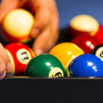 Sports cue tip billiard pool table cue chalk allow Carom Billiard Ball Store — Stock Photo #25206973
