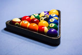 Sports cue tip billiard pool table cue chalk triangular Carom Billiard Ball Store — Stock Photo