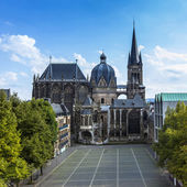 Aachen Cathedral Aachen, Aix-la-chapelle aken imperial imperial cathedral church gothic monument pos — Foto de Stock