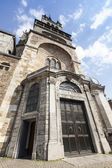 Aachen Aachen Cathedral spire cathedral door entrance gate tower Leo say aix-la-chapelle aken imper — Stock Photo