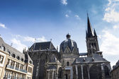 Aachen Cathedral Aachen, Aix-la-chapelle aken imperial imperial cathedral church gothic monument pos — Stock Photo