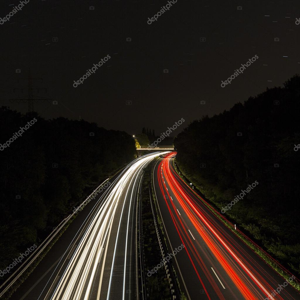 car light trails streaks of light speed highway aix la. Black Bedroom Furniture Sets. Home Design Ideas