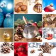 Christmas bell set collage mulled wine Christmas tree advent christ child christmas market new year — Stock Photo #32840389