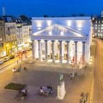 Theatre aix-la-chapelle City Music Acting tourism night dawn long time exposure — Stock Photo