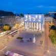Theatre aix-la-chapelle City Music  Acting tourism night dawn long time exposure — Stock Photo