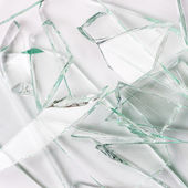 Glassbreak glass crack damage insurance splinter broken shards theft burglar accident — Stock Photo