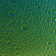 Water drops spectral gradient nature green yellow colors rainbow colorful beading lotuseffekt tau sealing — Stock Photo