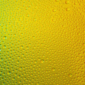 Water drops spectral gradient gold yellow green nature colors rainbow colorful beading lotuseffekt tau sealing — Stock Photo