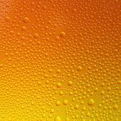 Water drops spectral gradient orange yellow sun summer gold colors rainbow colorful beading lotuseffekt tau sealing — Stock Photo