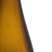 Beer bottle bottleneck condensation dripping brown chilly dew beer froth brewery disco summer party — Foto de Stock