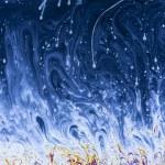Постер, плакат: Soap soap film movie soap LiquidArt abstract rainbow art colorful stripes texture