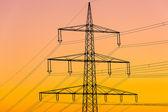 Electricity pylon Electricity pylon high voltage energy current electricity — Stock Photo