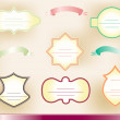 Set of vintage frames and ribbons — Stock Photo #11414587