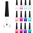 Set of color nail polish — Stock Photo #14811145