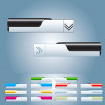 Web Elements Vector Button — Stock Photo