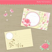 Wedding, birthday, party invitation card — Stock Vector