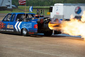 Jet Truck Afterburners — Stock Photo