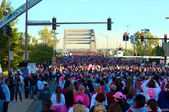 Thousands at Race For The Cure — Stock Photo