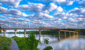 Twin Rivers Bridge — Stock Photo