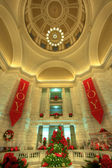 árvore de natal do arkansas capitol rotunda. — Foto Stock