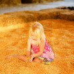 Little Girl Fall Harvest — Stock Photo #23103460