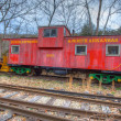Vintage Caboose — Stock Photo