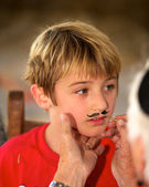 Boy Face Painting — Foto Stock